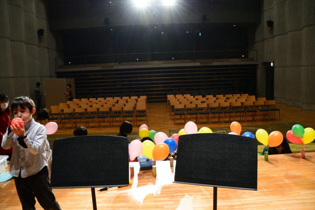ステージ設営風景